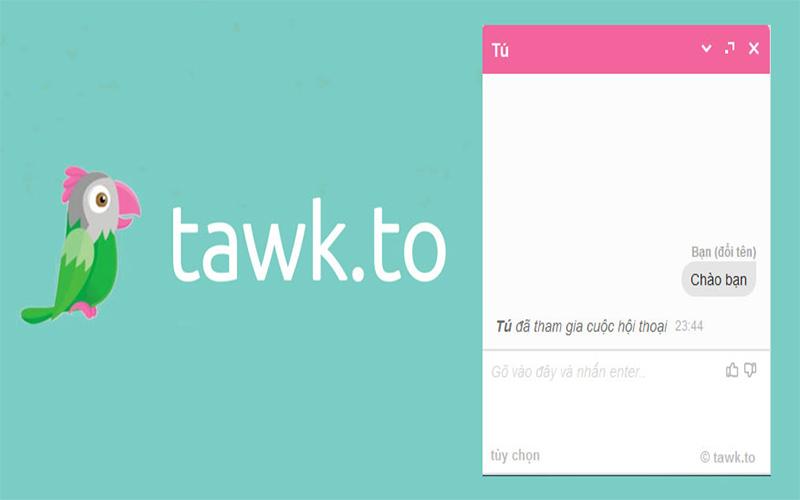 tawk tich hop live chat mien phi
